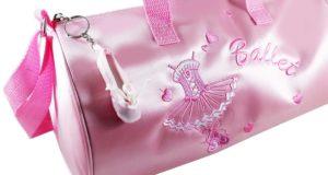 Ballett Tasche rosa Satin rund gross