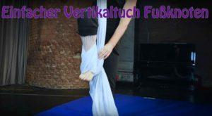 Einfacher Vertikaltuch Fußknoten