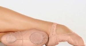 Ballettschuhe / Ballettschläppchen aus Leder oder Leinen