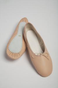 Ballettschuhe durchgehende Sohle
