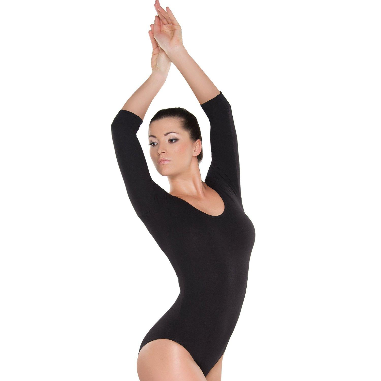"Ballettbody Ballett Trikot Kinder Langarm Ballettanzug /""Lilly/"" rosa"